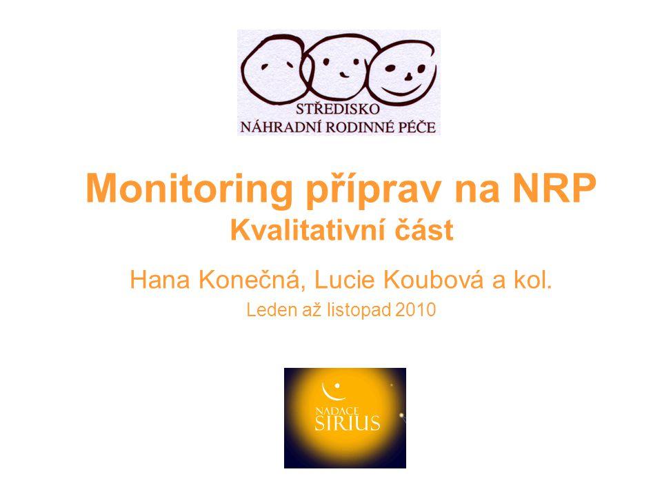 3.Cílové skupiny přípravy 4. Příprava dětí na NRP Pro analýzu situace nemáme podklady.