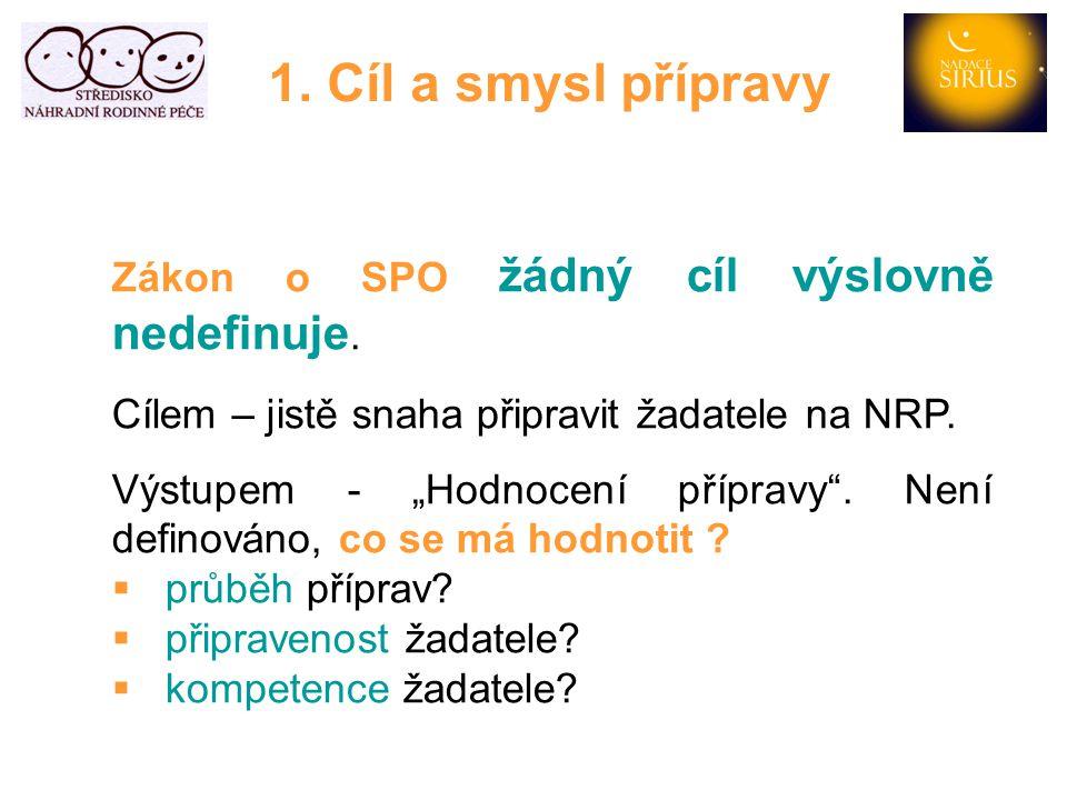 1.Cíl a smysl přípravy Metodické doporučení MPSV č.