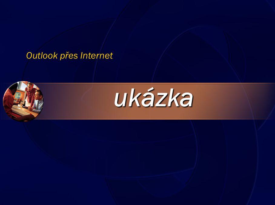 ukázka Outlook přes Internet