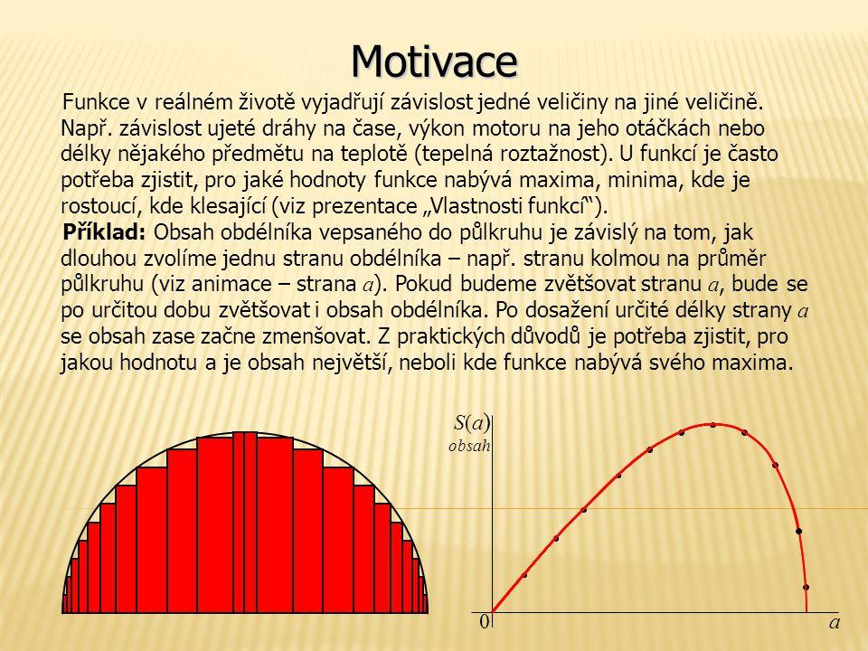 Motivace Funkce v reálném životě vyjadřují závislost jedné veličiny na jiné veličině.