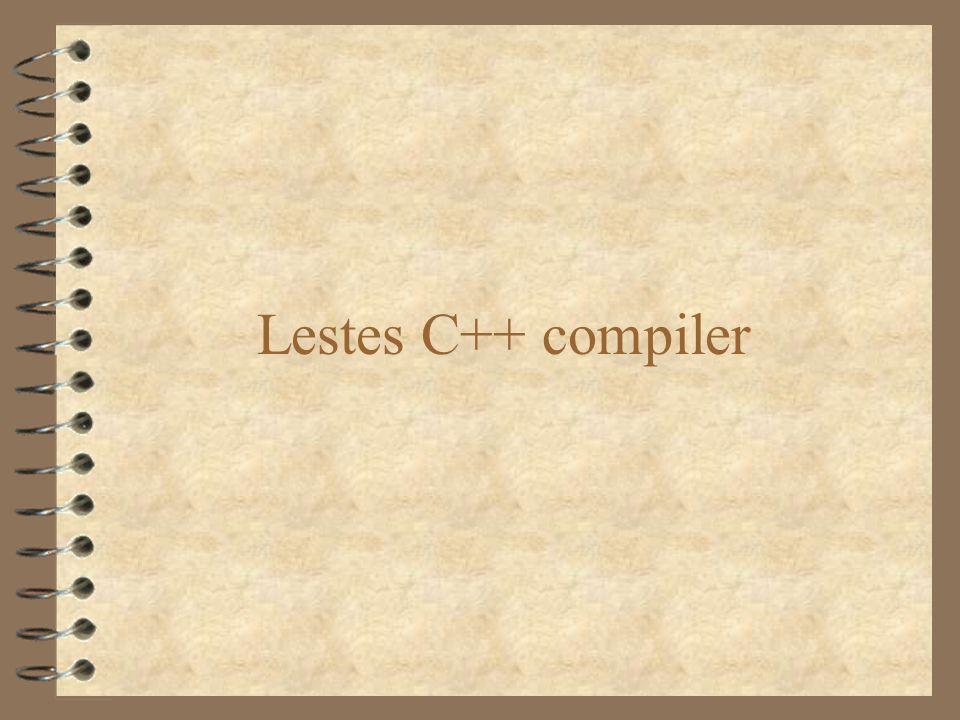 Lestes C++ compiler