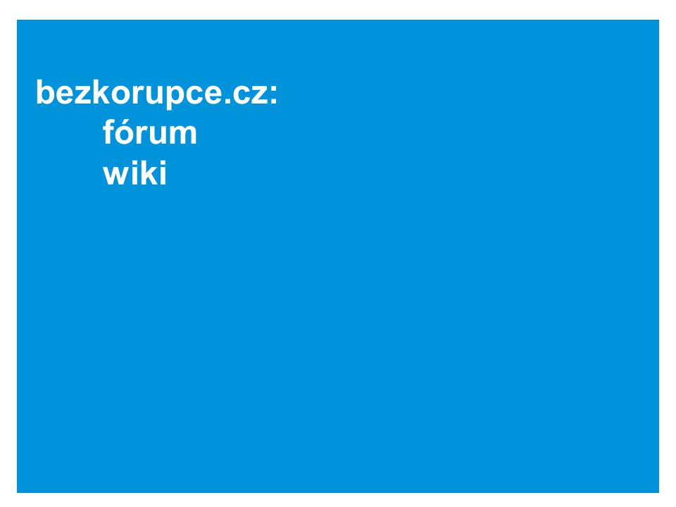bezkorupce.cz: fórum wiki