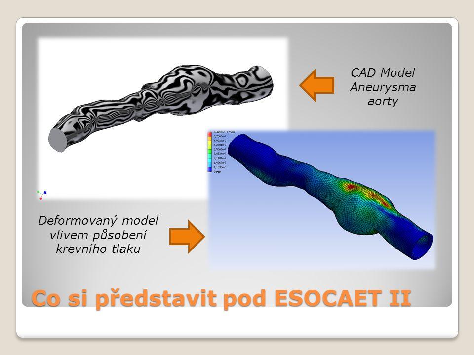 Co si představit pod ESOCAET II CAD Model Aneurysma aorty Deformovaný model vlivem působení krevního tlaku