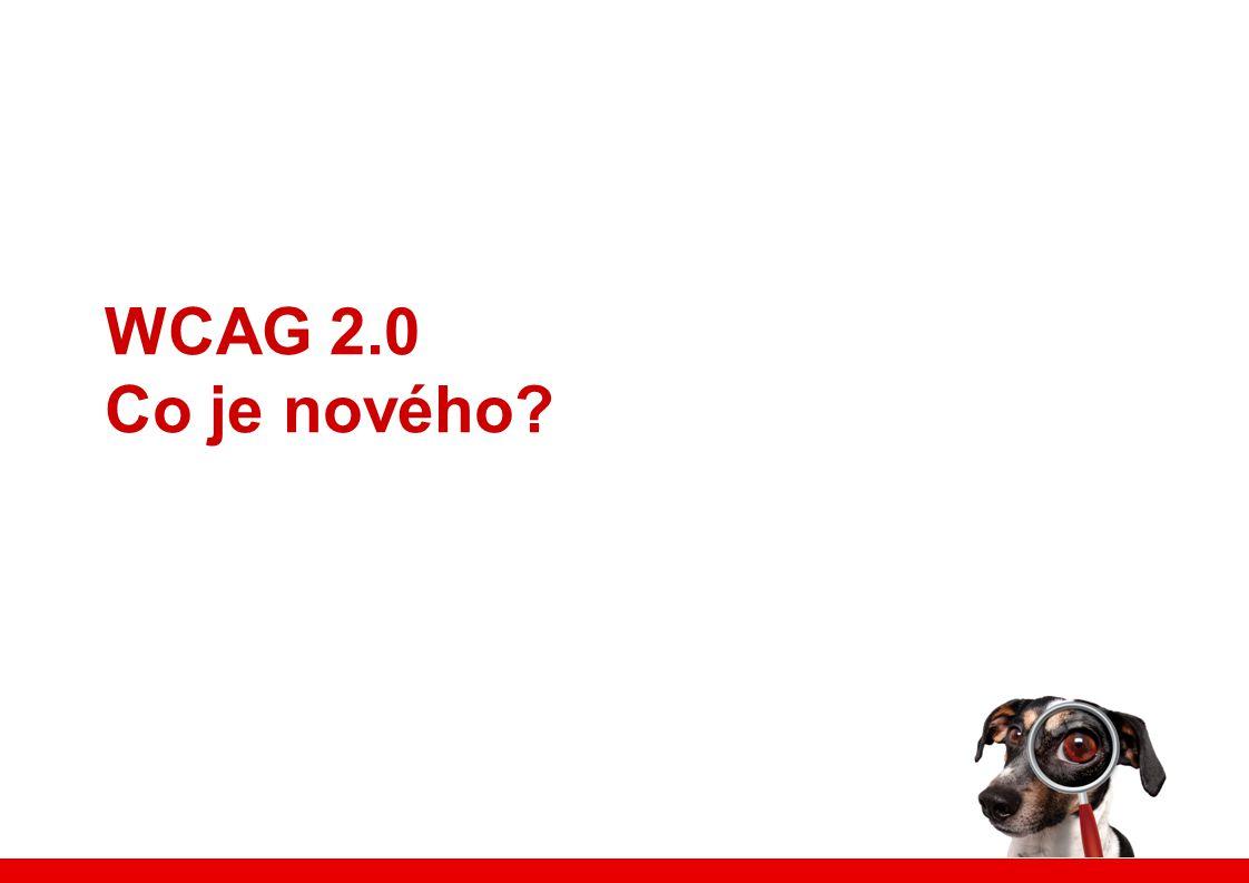 WCAG 2.0 Co je nového