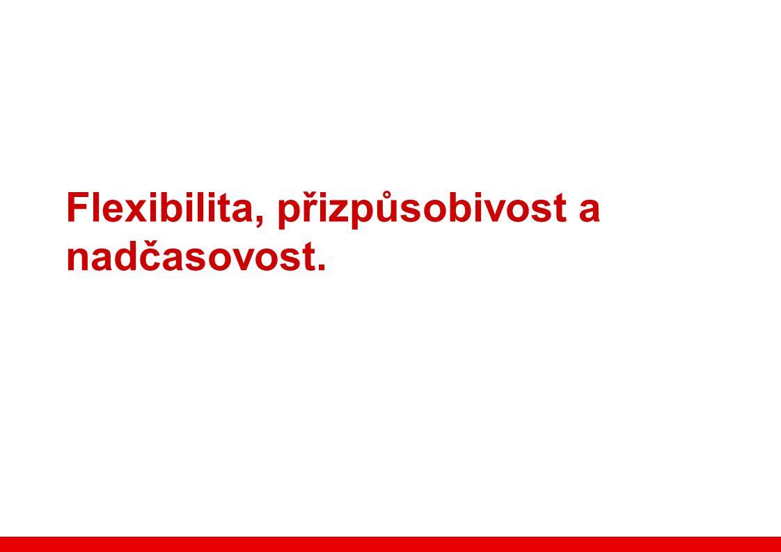 Flexibilita, přizpůsobivost a nadčasovost.