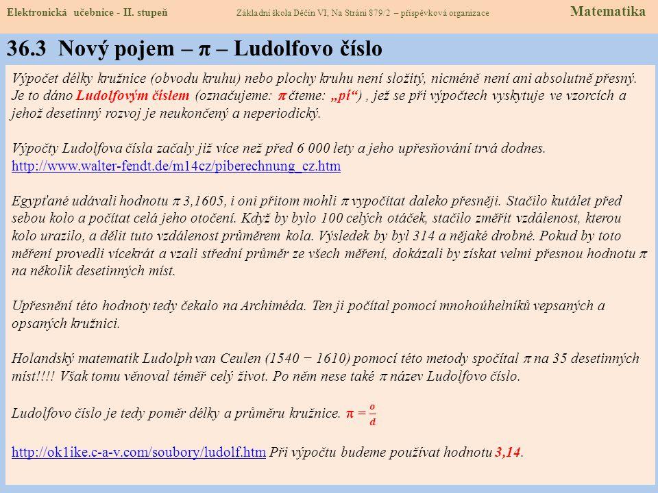 Elektronická učebnice - II. stupeň Základní škola Děčín VI, Na Stráni 879/2 – příspěvková organizace Matematika 36.2 Co už známe KRUŽNICE = množina vš