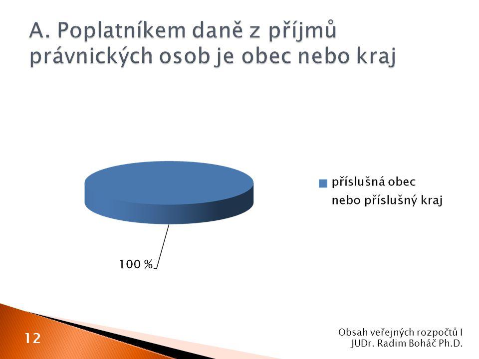 Obsah veřejných rozpočtů I JUDr. Radim Boháč Ph.D. 12