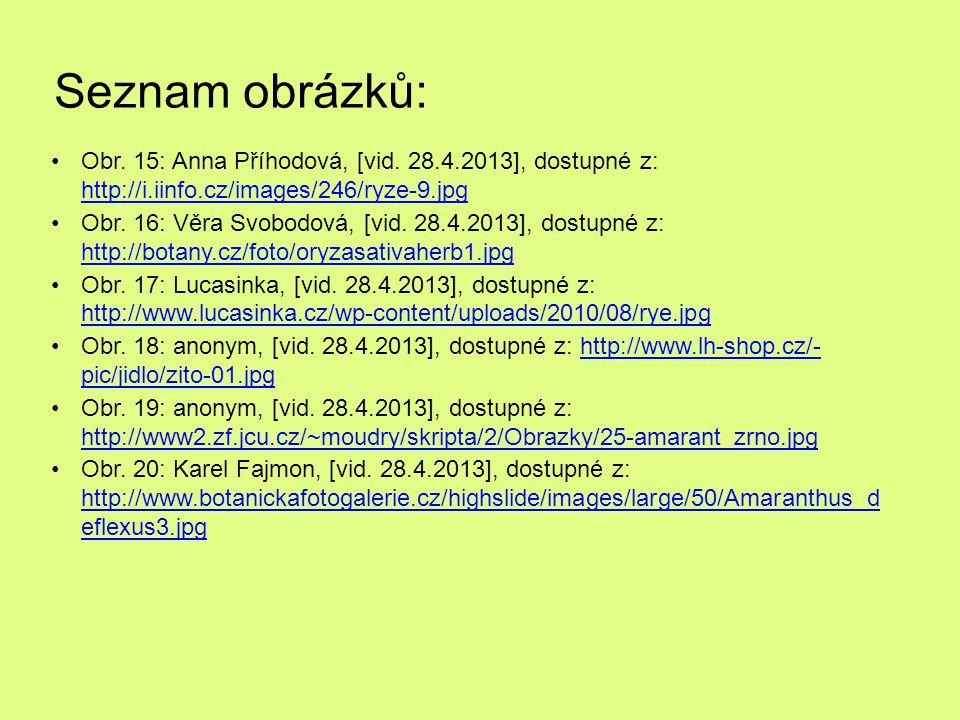 Seznam obrázků: Obr. 15: Anna Příhodová, [vid. 28.4.2013], dostupné z: http://i.iinfo.cz/images/246/ryze-9.jpg http://i.iinfo.cz/images/246/ryze-9.jpg
