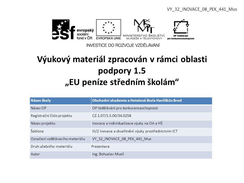 Vzdělávací obor, pro který je materiál určen Kuchař - číšník Předmět Písemná a elektronická komunikace Ročník 1.