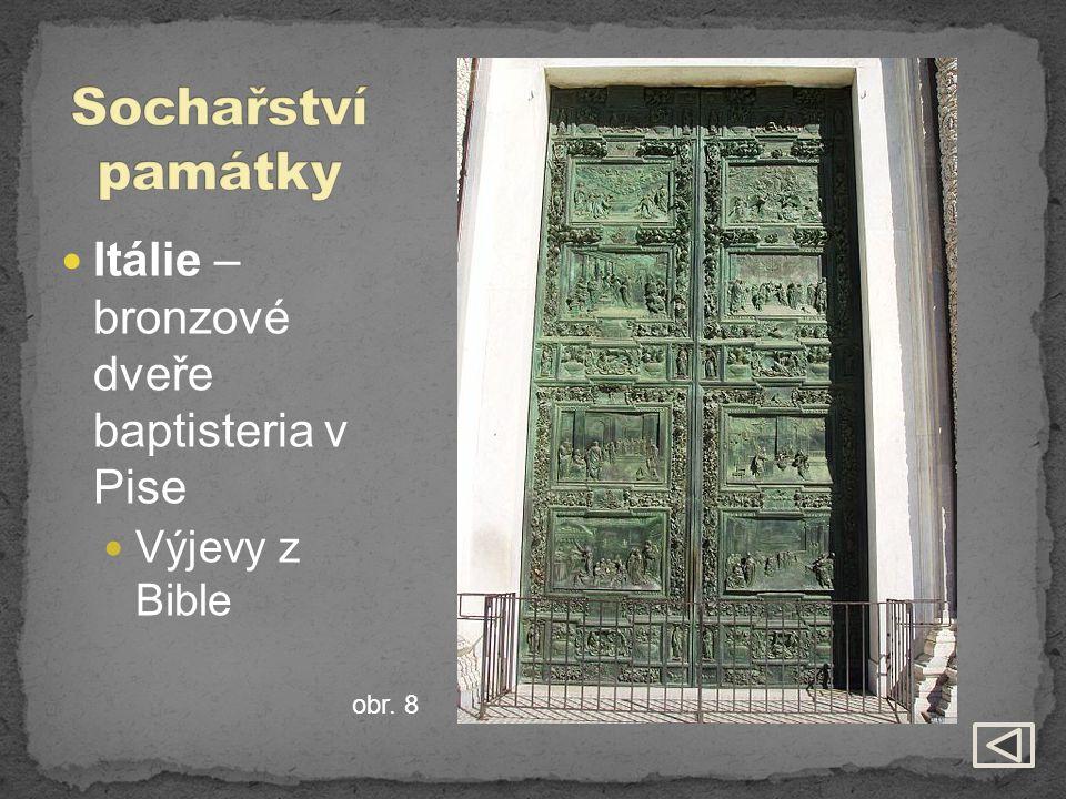 Itálie – bronzové dveře baptisteria v Pise Výjevy z Bible obr. 8