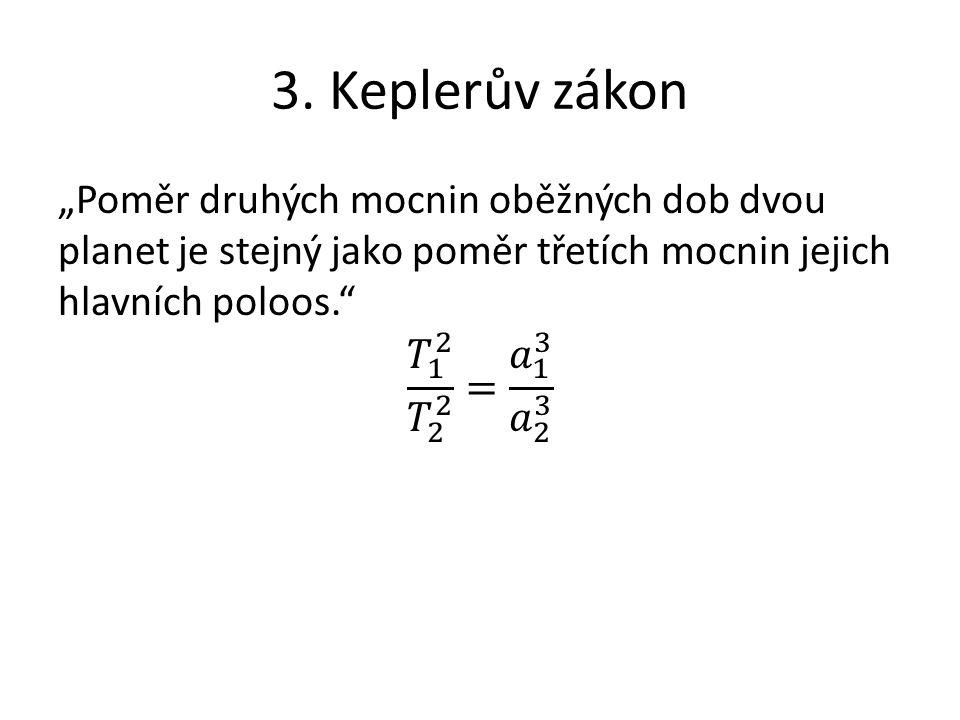 3. Keplerův zákon