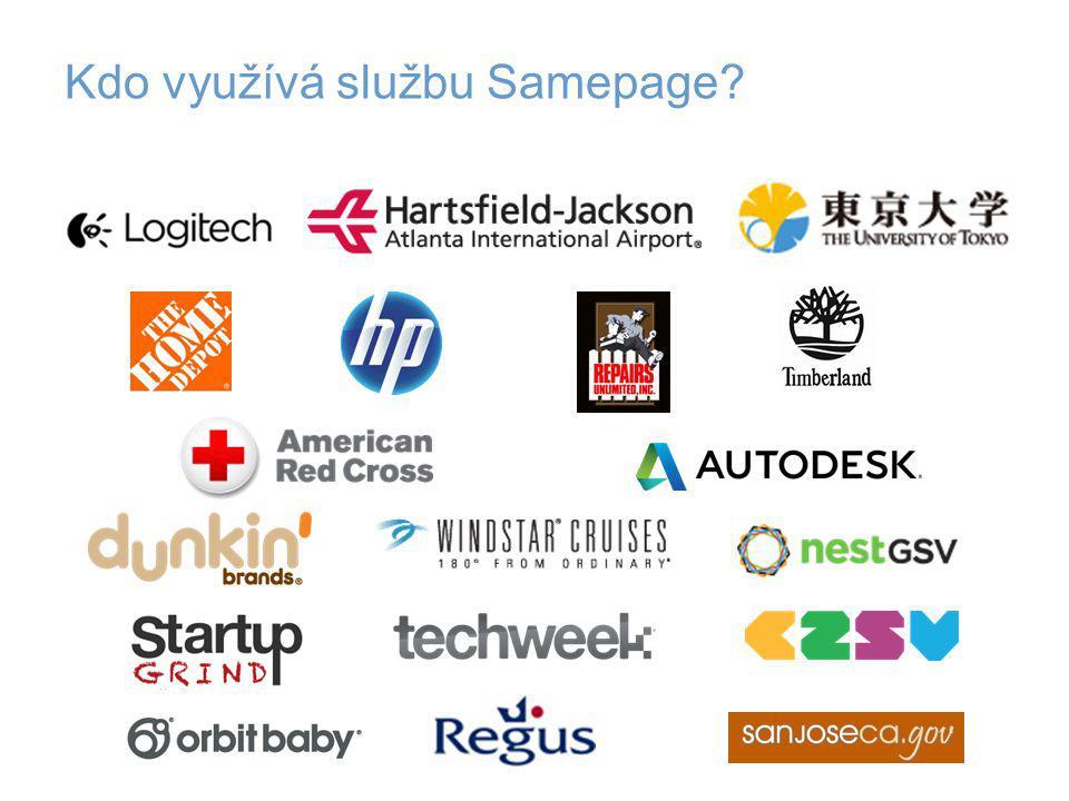 Kdo využívá službu Samepage?