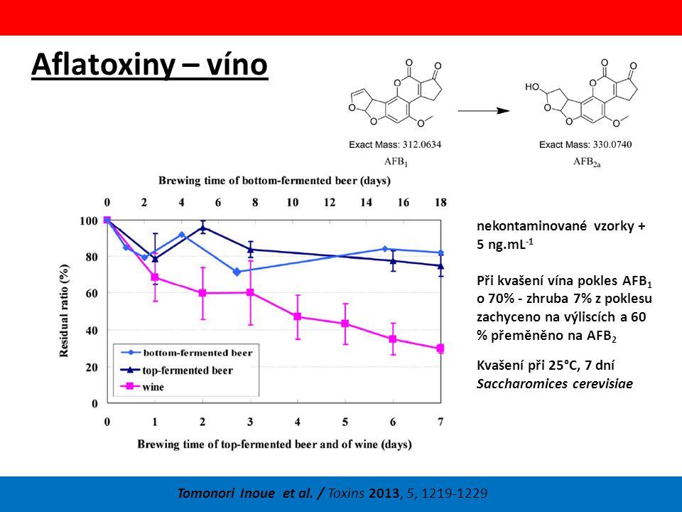 Aflatoxiny – víno Tomonori Inoue et al.