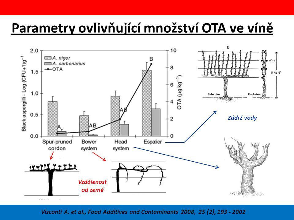 Parametry ovlivňující množství OTA ve víně Visconti A.