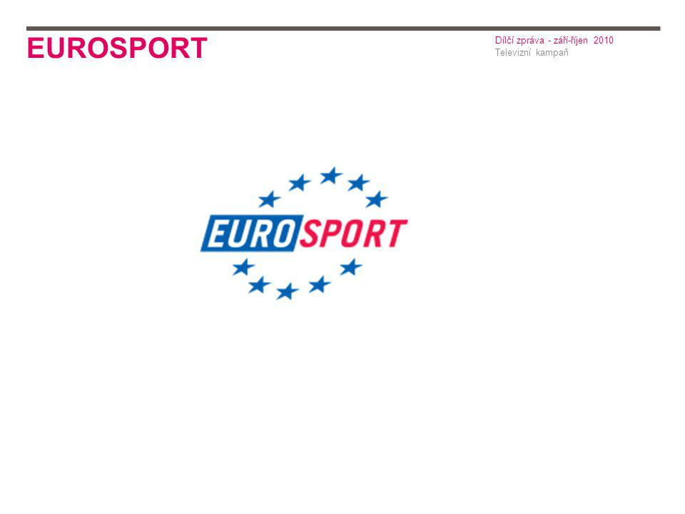 EUROSPORT Televizní kampaň Dílčí zpráva - září-říjen 2010