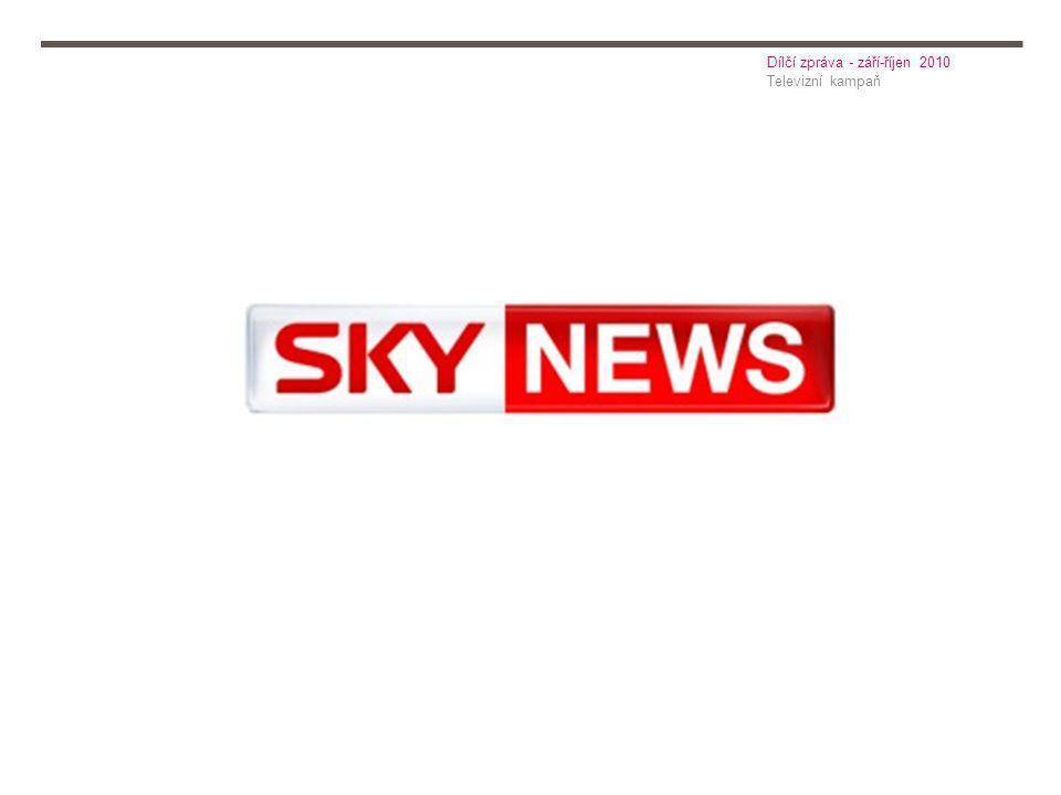 Televizní kampaň Dílčí zpráva - září-říjen 2010