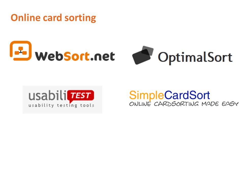 Online card sorting