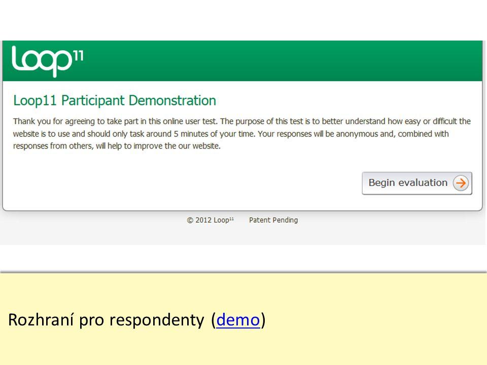 Rozhraní pro respondenty (demo)demo Rozhraní pro respondenty (demo)demo