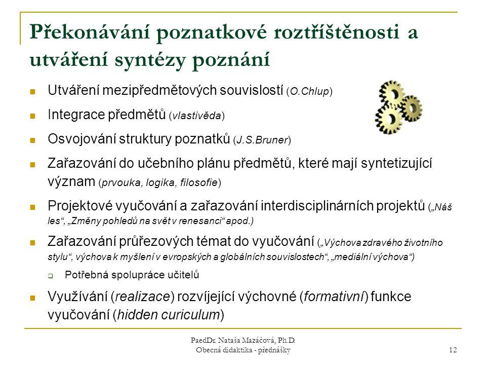PaedDr.Nataša Mazáčová, Ph.D.