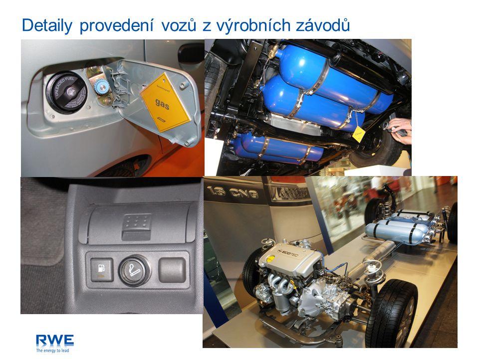 RWE Transgasstr. 13 Detaily provedení vozů z výrobních závodů