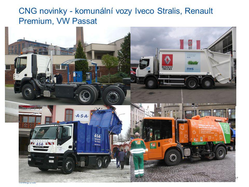 RWE Transgasstr. 17 CNG novinky - komunální vozy Iveco Stralis, Renault Premium, VW Passat