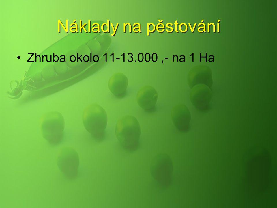 Náklady na pěstování Zhruba okolo 11-13.000,- na 1 Ha