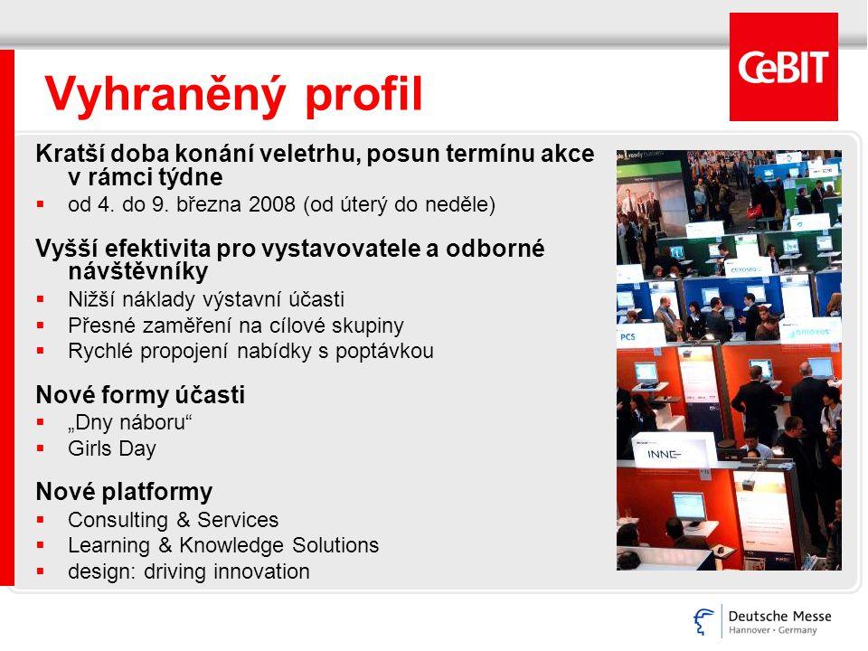 CeBIT 2008 Termín veletrhu 4.- 9. března 2008 Zahajovací ceremoniál 3.