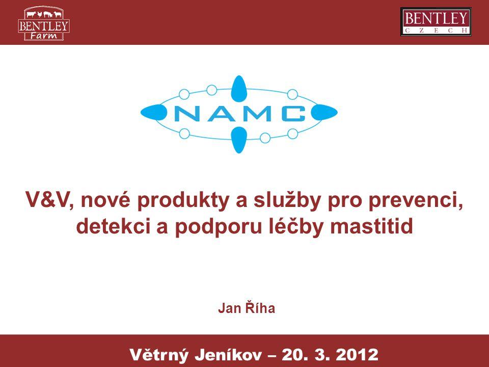 Projekt NAMC NAZV – KUS 2012 Výzkum, nové produkty a služby pro vytvoření centra prevence, detekce a podpory léčby mastitid.