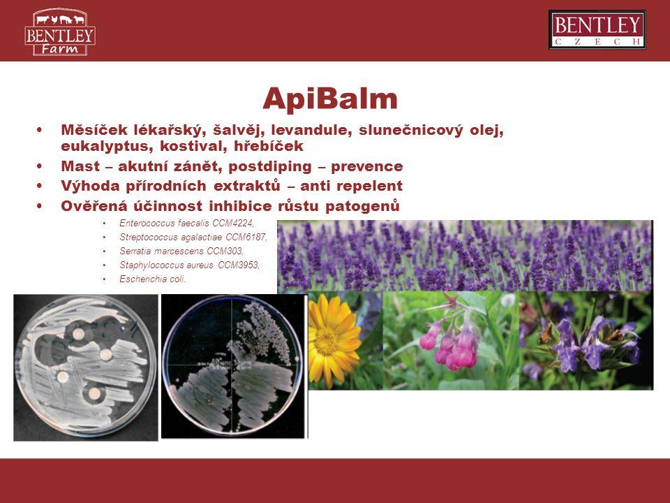 Měsíček lékařský, šalvěj, levandule, slunečnicový olej, eukalyptus, kostival, hřebíček Mast – akutní zánět, postdiping – prevence Výhoda přírodních ex