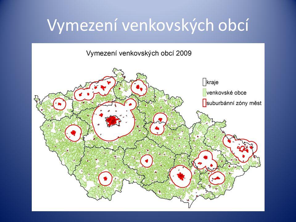 Vymezení venkovských obcí
