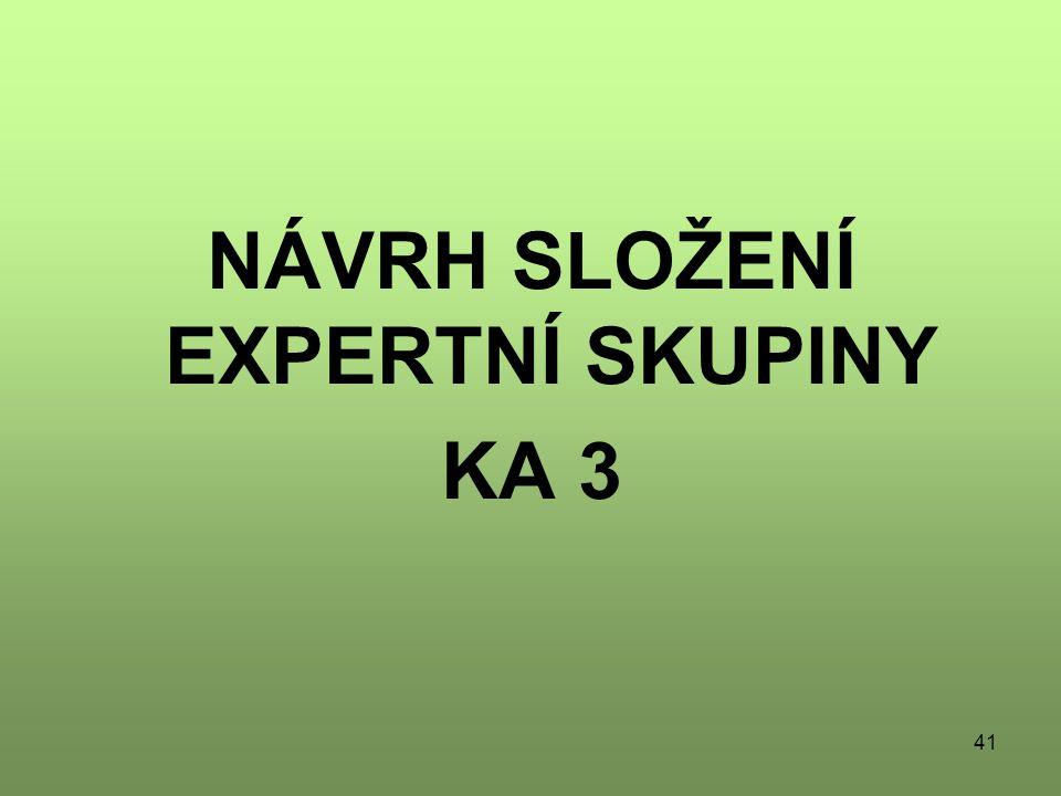 41 NÁVRH SLOŽENÍ EXPERTNÍ SKUPINY KA 3