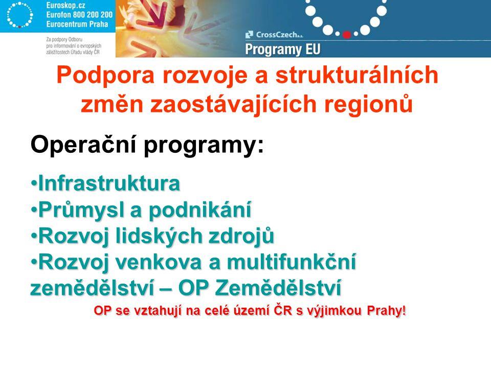 OP se vztahují na celé území ČR s výjimkou Prahy.