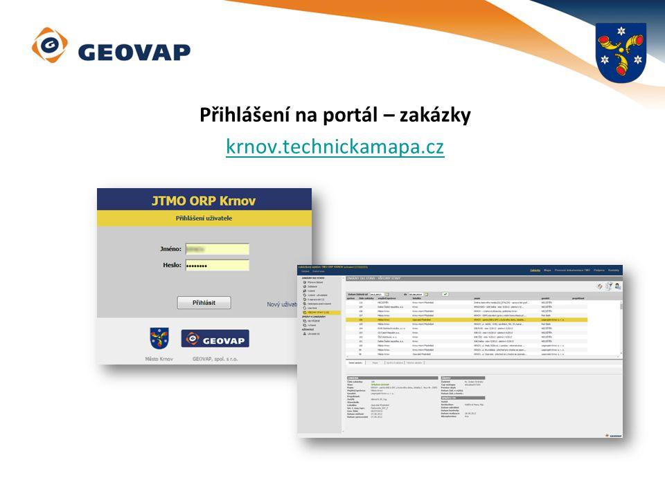 Přihlášení na portál – zakázky krnov.technickamapa.cz