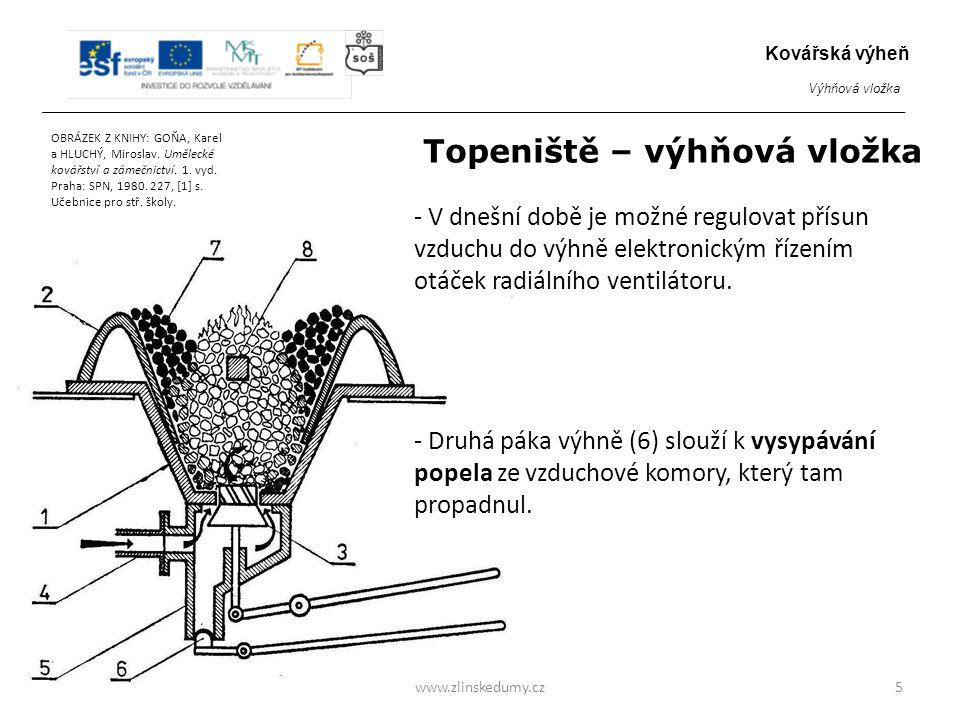Topeniště – výhňová vložka - V dnešní době je možné regulovat přísun vzduchu do výhně elektronickým řízením otáček radiálního ventilátoru.