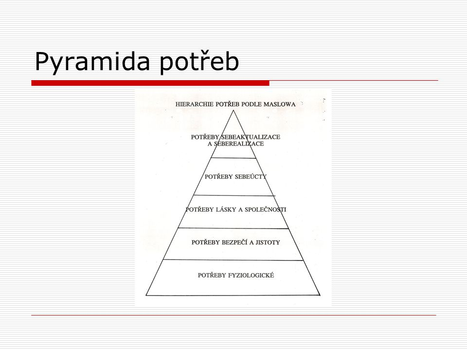 Pyramida potřeb