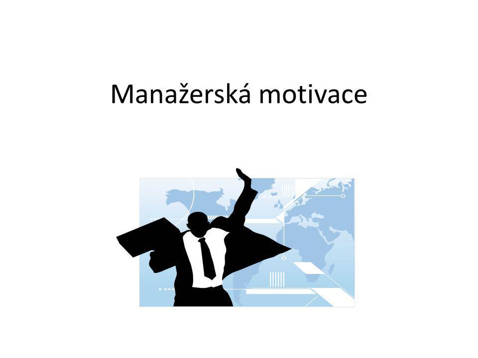 Motivační koncepce - historie Vývoj přístupů k motivaci pracovníků vycházel z vývoje: managementu (metod, stylů, nástrojů,) charakteru pracovních sil (schopnosti, postoje, aktivity, materiální i nemateriální potřeby)  Koncepce racionálně-ekonomického chování člověka  Koncepce sociálního člověka  Koncepce uspokojování potřeb  McGregorova teorie X a Y  Koncepce komplexního člověka, apod.