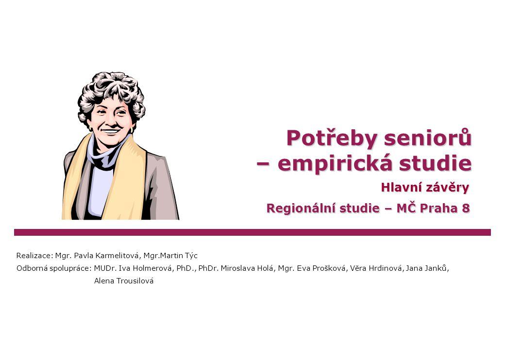 Karmelitová/TýcPotřeby seniorů – empirická studie Praha 8, 2005Strana 42 Faktory kvality života seniorů – co by nejvíce pomohlo.