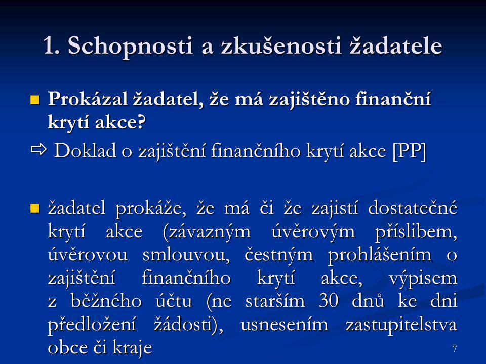 18 4.Horizontální témata Jaký má akce vliv na udržitelný rozvoj.