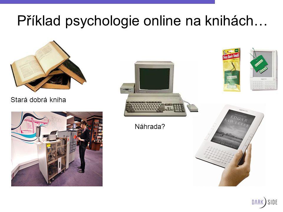 Příklad psychologie online na knihách… Stará dobrá kniha Náhrada?