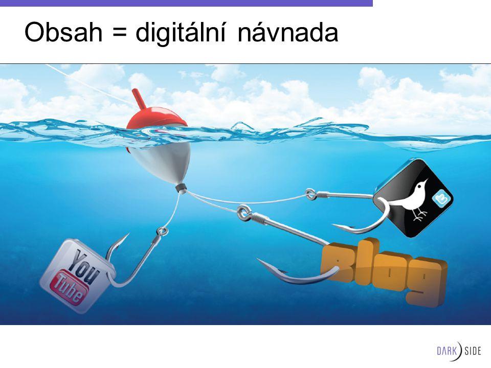 Obsah = digitální návnada