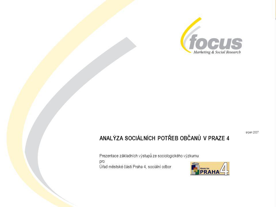 AD-HOC RESEARCH: Analýza sociálních potřeb občanů městské části Praha 4 22  Osoby v obtížné sociální situaci využívají (resp.