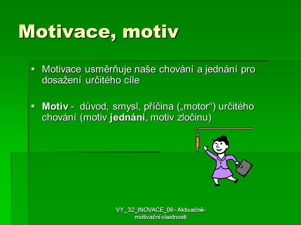 """Motivace, motiv MMMMotivace usměrňuje naše chování a jednání pro dosažení určitého cíle MMMMotiv - důvod, smysl, příčina (""""motor"""") určitého ch"""