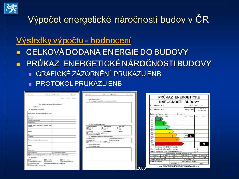 EPEE Congress Prague 2008 Výsledky výpočtu - hodnocení CELKOVÁ DODANÁ ENERGIE DO BUDOVY CELKOVÁ DODANÁ ENERGIE DO BUDOVY PRŮKAZ ENERGETICKÉ NÁROČNOSTI