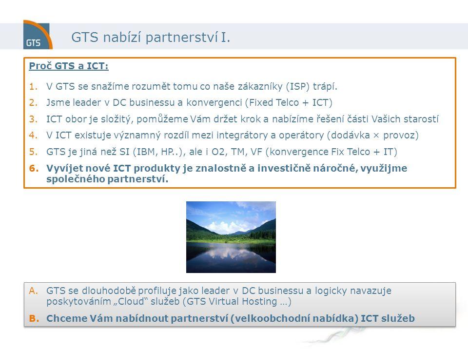 GTS nabízí partnerství I.