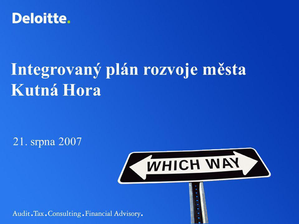Integrovaný plán rozvoje města Kutná Hora 21. srpna 2007