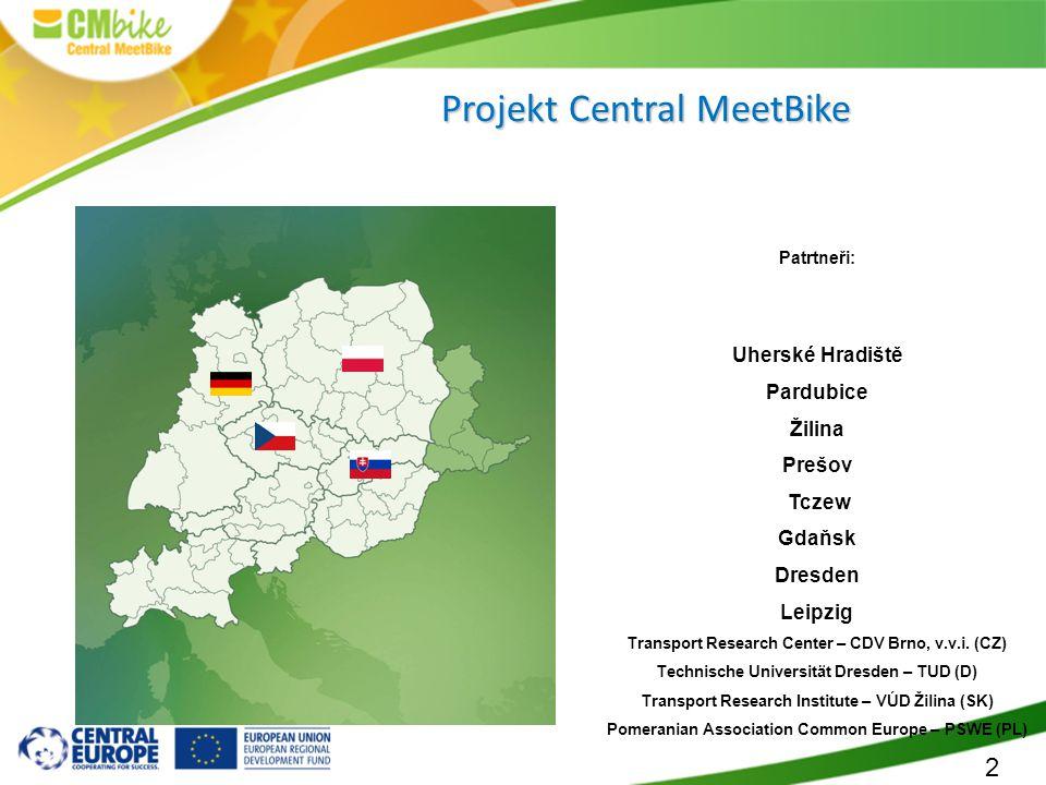 2 Patrtneři: Uherské Hradiště Pardubice Žilina Prešov Tczew Gdaňsk Dresden Leipzig Transport Research Center – CDV Brno, v.v.i. (CZ) Technische Univer