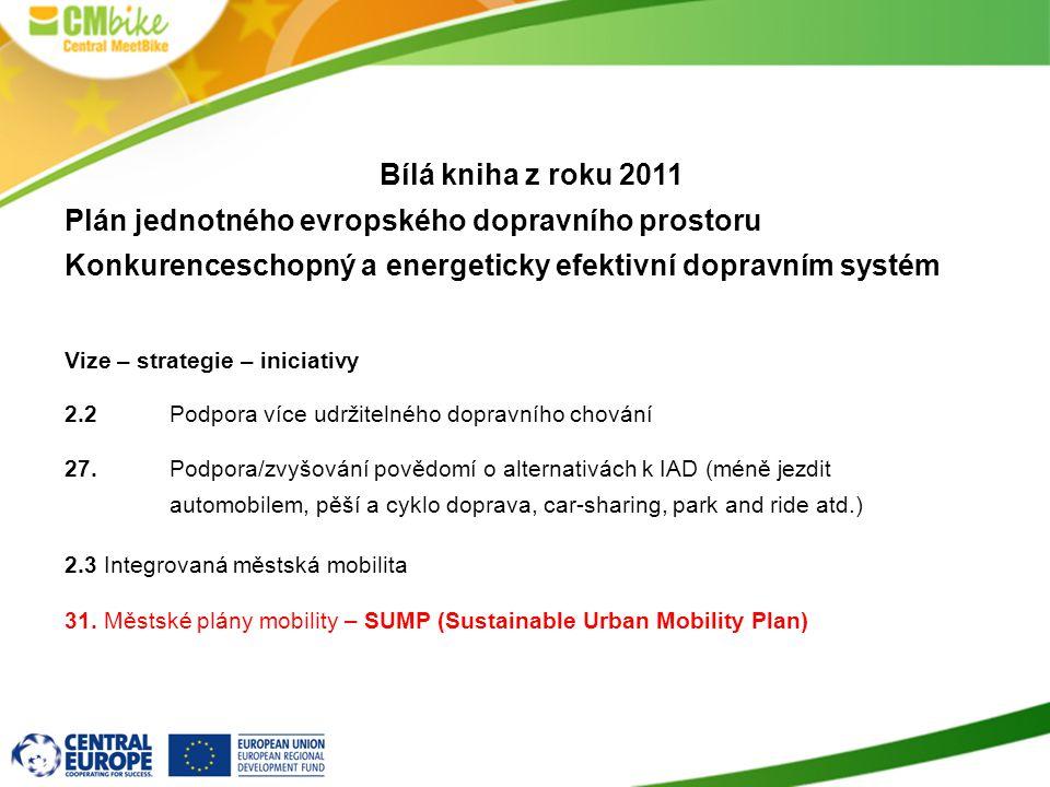 7 Bílá kniha z roku 2011 Plán jednotného evropského dopravního prostoru Konkurenceschopný a energeticky efektivní dopravním systém Vize – strategie –