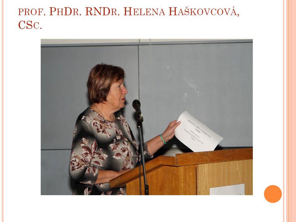 PROF. P H D R. RND R. H ELENA H AŠKOVCOVÁ, CS C.