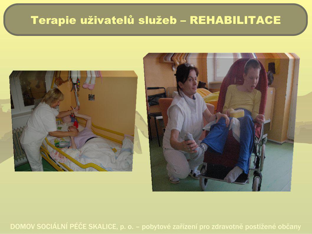 Terapie uživatelů služeb – REHABILITACE