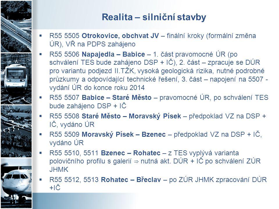 Realita - železniční stavby  žst.Přerov, 1. stavba dokončena, žst.